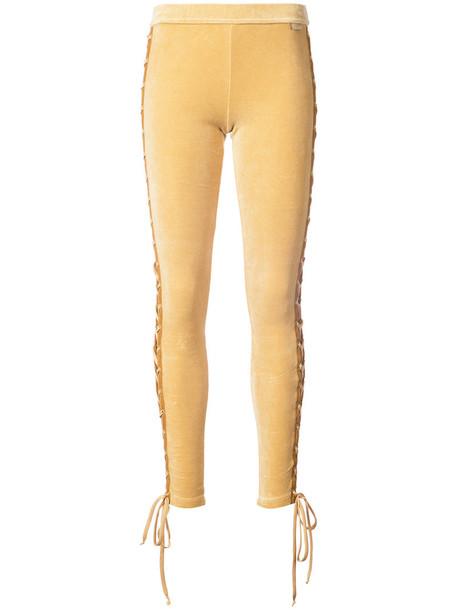 Fenty x Puma leggings women cotton yellow orange pants