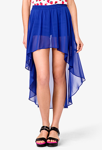 high low chiffon skirt forever21 2021103848