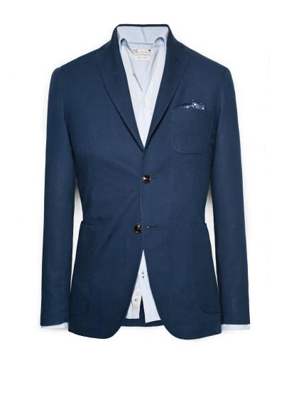 piquã© cotton blazer