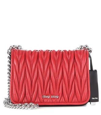 bag shoulder bag leather red
