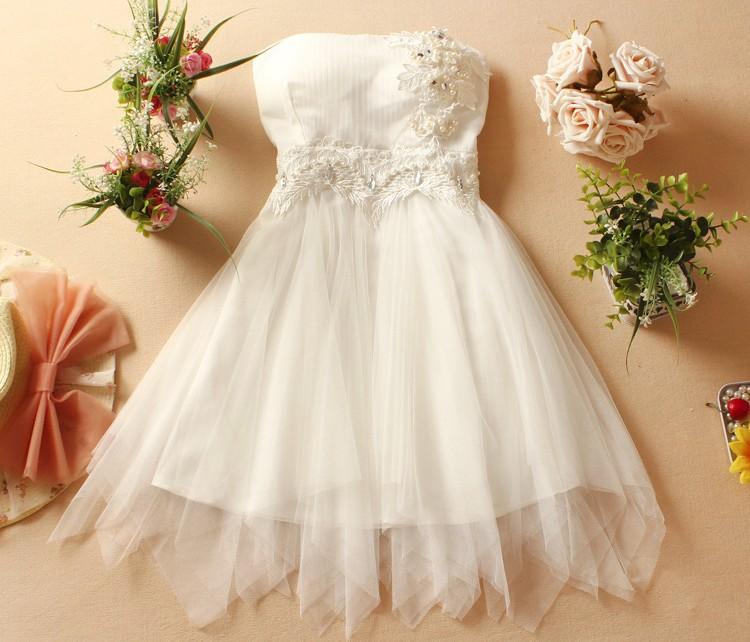 New Fashion Women's Strapless Diamond Mini Evening Party Prom Bridesmaid Wedding Dress-White on Luulla