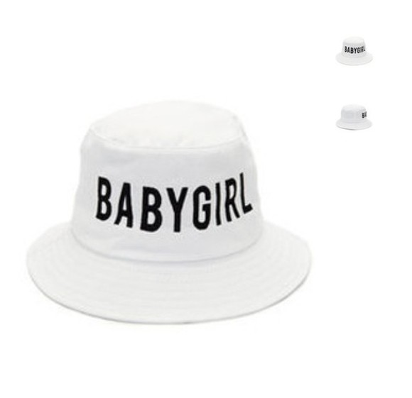 white hat bucket hat