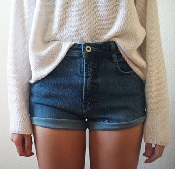 Jumper Denim Shorts