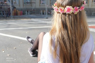 hair accessory flower crown crown flowers yellow