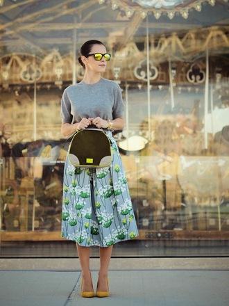 bittersweet colours sweater skirt shoes bag jewels sunglasses
