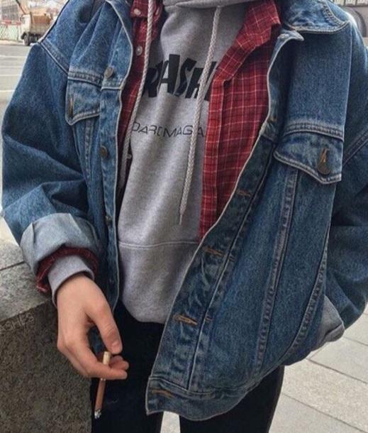 jacket blue denim jacket grunge denim jacket vintage grunge grunge jacket