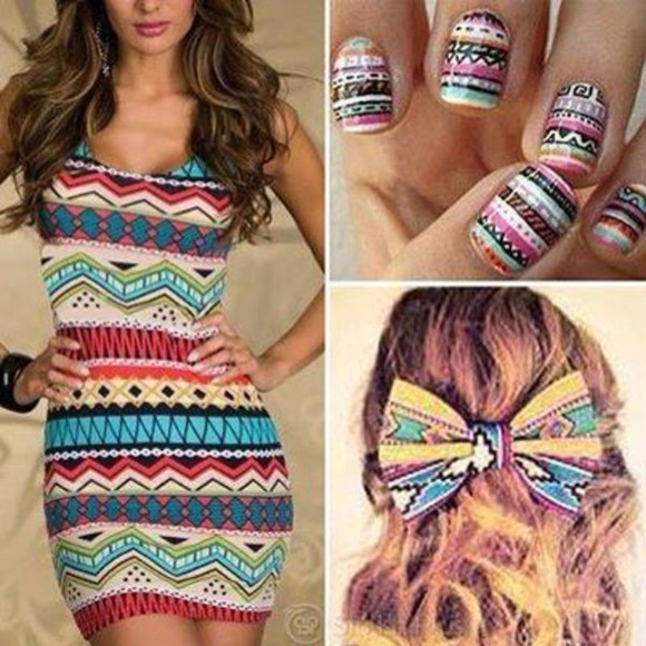 dress little dress blue sexy dress black mini dress red multicolored pink yellow green brown party dress prom dress nail polish hat