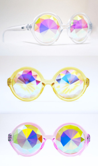 unique sunglasses irridescent gems shades