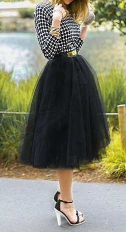 Mesh grunge ball gown puff skirts