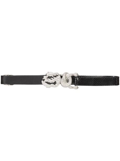 snake belt black