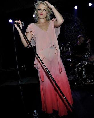 dress sky ferreira riccardo tisci vogue vogue italia pink