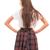 Falda corta de cuadros Melisa de Only
