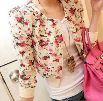 cardigan flowers fall outfits sweater cream sleeves girly tumblr pretty