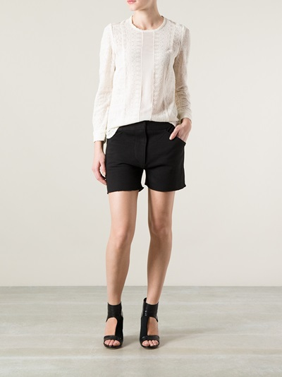 1561f999ff Isabel Marant 'tess' Lace Top - Luisa World - Farfetch.com