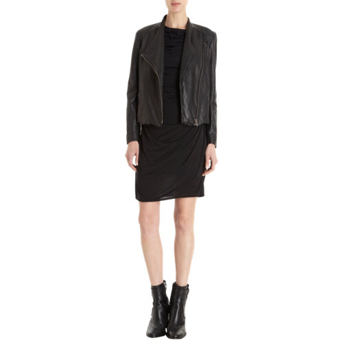 Helmut lang washed leather moto jacket at barneys.com