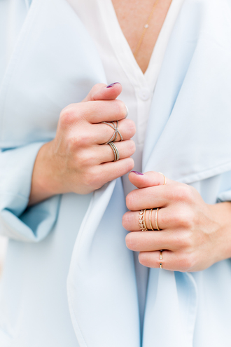 a piece of toast blogger coat blouse jewels jewelry ring rings and tings ring stack silver ring gold ring