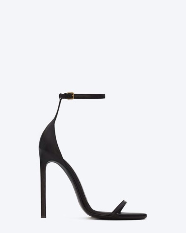 shoes black high heels sandals straps