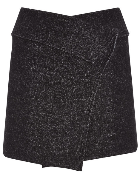 skirt mini skirt mini wool grey