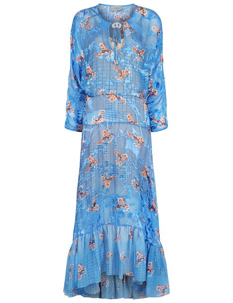 PREEN BY THORNTON BREGAZZI dress floral blue