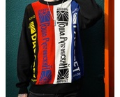 sweater,lil peep,multicolor,red,blue,white