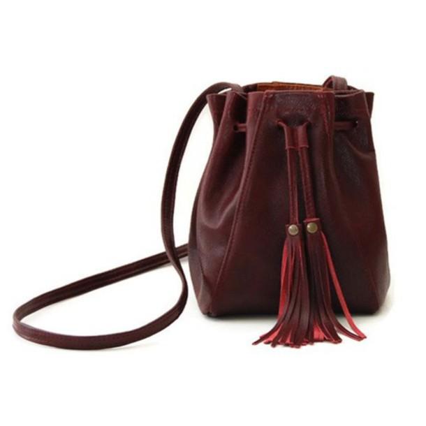 bag fringes fringed bag bucket bag mini backpack