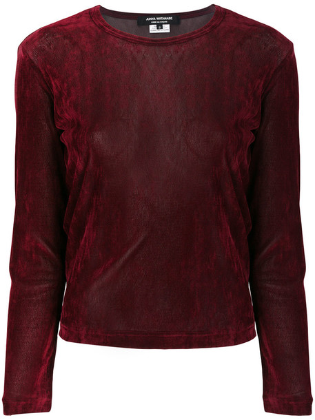 JUNYA WATANABE COMME DES GARÇONS jumper women velvet red sweater