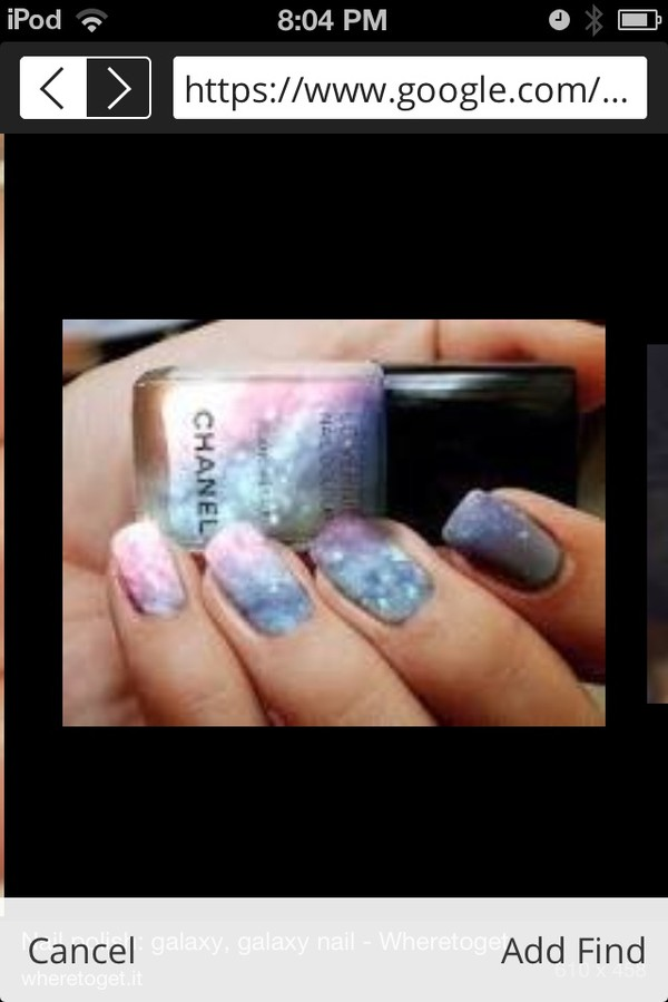 nail polish galaxy print