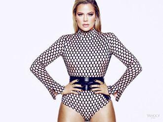 top bodysuit belt khloe kardashian editorial optical