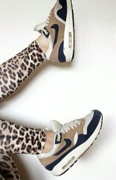 printed leggings shoes nike air air max gold and black leopard print