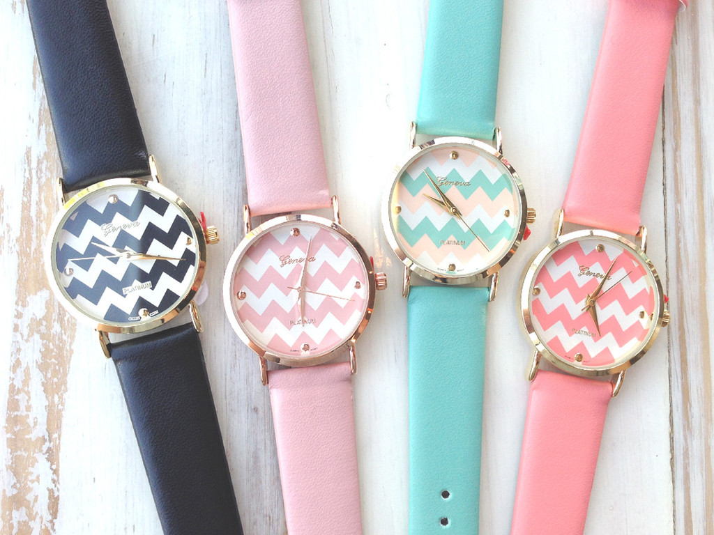 Chevron print watch