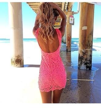 dress pink pink dress lace lace dress summer dress