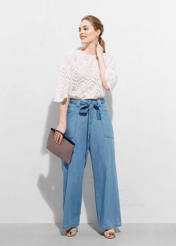 jeans wide-leg pants denim flare jeans