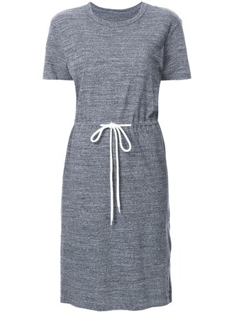 dress shirt dress t-shirt dress women drawstring cotton grey