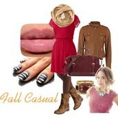 dress,red dress,lauren conrad,casual