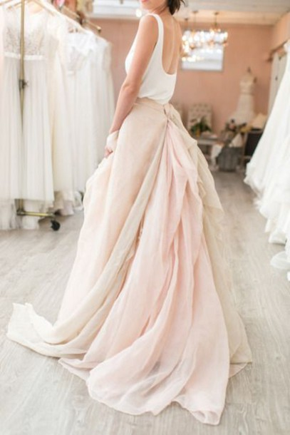 Skirt pink skirt pink tulle skirt tulle wedding dress for Tulle skirt wedding dresses