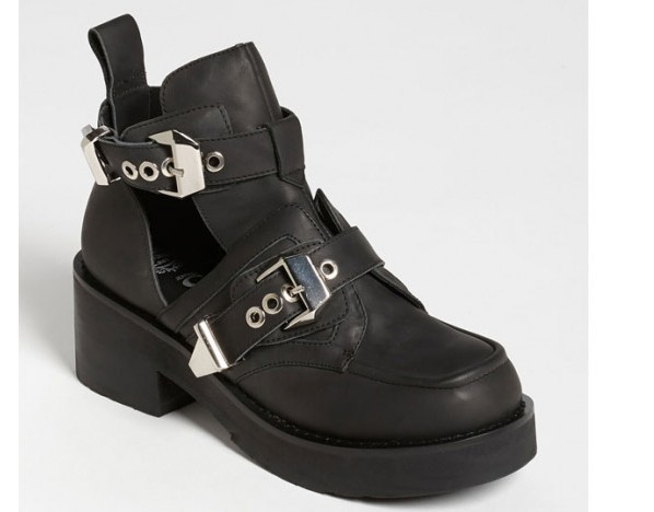 Free shipping 2013 new arrival same  jeffrey campbell style coltrane cut out boots women motorcycle boots cool shoes