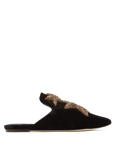 SANAYI 313 embroidered shoes velvet gold black