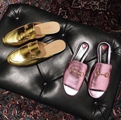 shoes,pink,moccasins,gucci,mules