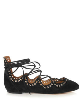 embellished flats lace suede silver black shoes