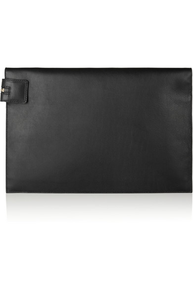 Tone leather clutch