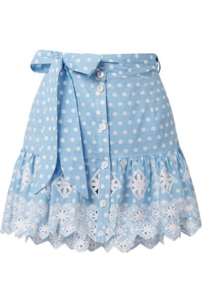 Miguelina skirt mini skirt mini light cotton blue light blue