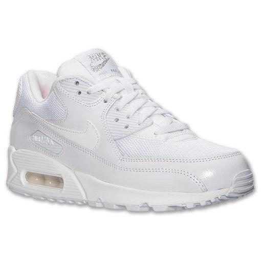 watch 97be1 0fe1e AUTHENTIC Nike Air Max 90 Premium White Metallic Silver   443817 100 Women  sz