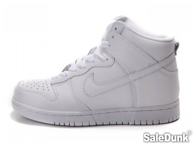 all white dunks