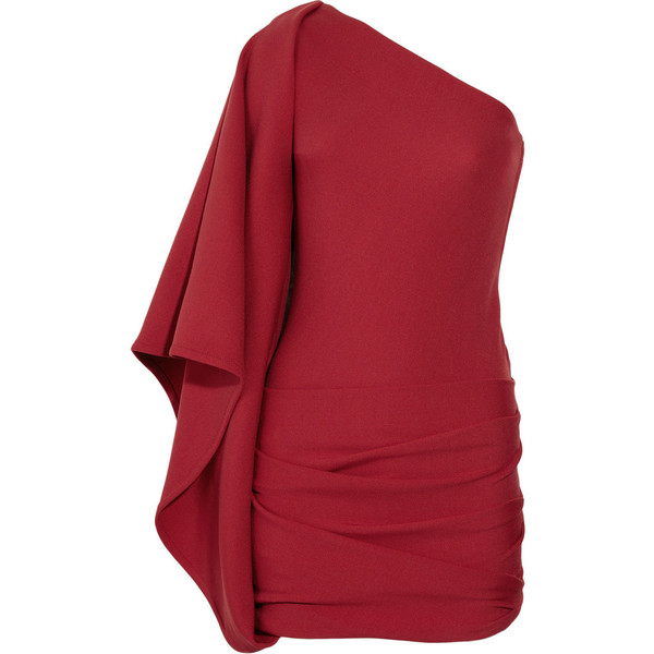Jay Ahr One-shoulder stretch-jersey mini dress - Polyvore