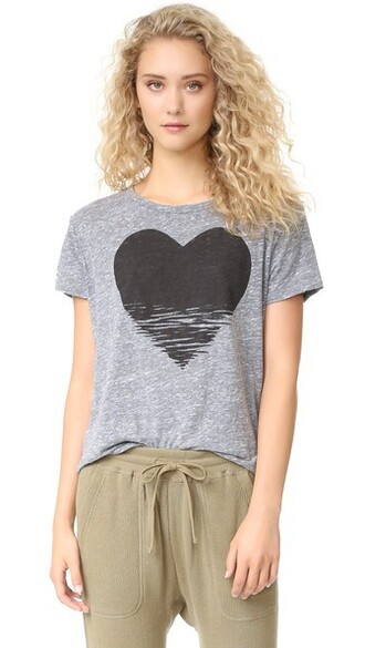 loose heart grey heather grey top
