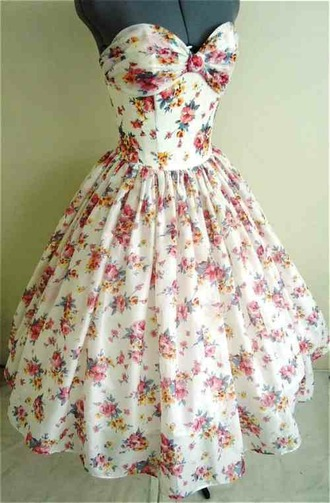 dress tan dress long dress sleeveless dress floral dress flowers 50s style