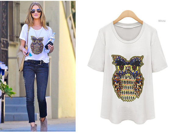 owl t-shirt kcloth owl printed owl t-shirt