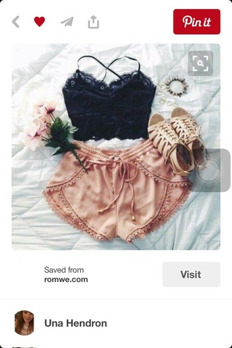 shorts nude pom pom shorts cute flowy style summer summer outfits summer shorts high waisted shorts