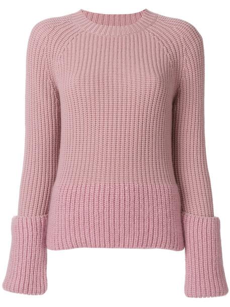 moncler sweater women layered wool purple pink