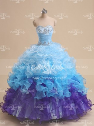 Luxurious sweetheart sleeveless beading quinceanera dress / ball gown prom dress - CallMeLady